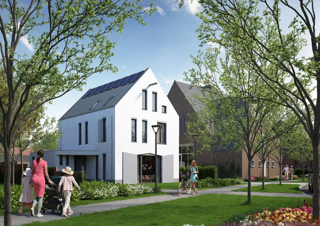 Voorkant vrijstaande villa De Wagenhoek